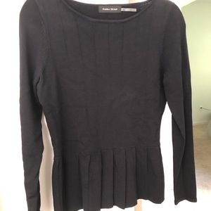 Black Top With Pleats